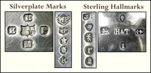 Marchi di Argento inglese, sterling e plated